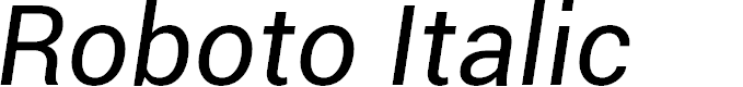 Preview image for Roboto Italic