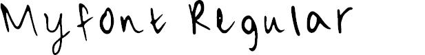 Preview image for Myfont Regular Font