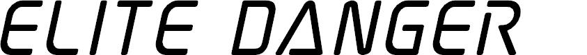 Preview image for Elite Danger Bold Italic