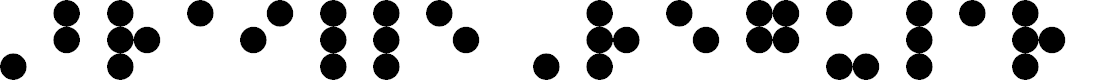 Preview image for Braille Regular Font