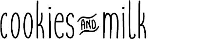 Preview image for cookies&milk-regular Font