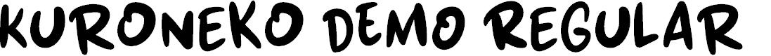 Preview image for Kuroneko DEMO Regular Font