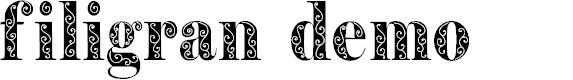 Preview image for Filigran Demo Font