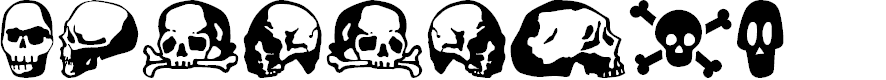 Preview image for SkullBearer AOE Font