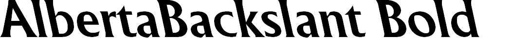 Preview image for AlbertaBackslant Bold Font