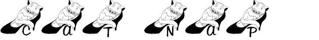 Preview image for LCR Cat Nap Font