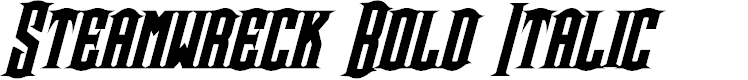 Preview image for Steamwreck Bold Italic