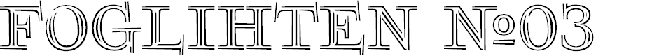 Preview image for FoglihtenNo03 Font