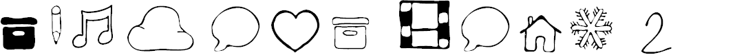 Preview image for Symbols Font 2 Font