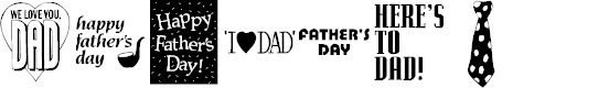 Preview image for KR Father's Day Dings Font