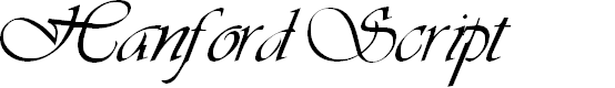 Preview image for Hanford Script Font