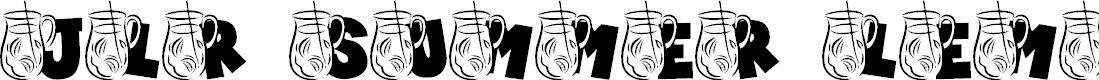 Preview image for JLR Summer Lemonade Font