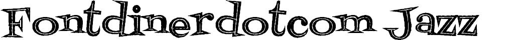 Preview image for Fontdinerdotcom Jazz Dark Font