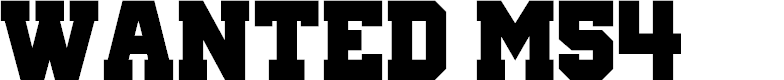 Preview image for Wanted M54 Font
