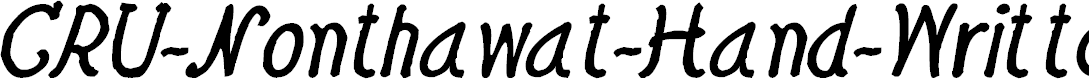 Preview image for CRU-Nonthawat-Hand-Written Bold-Italic Font