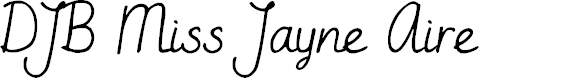 Preview image for DJB Miss Jayne Aire Font