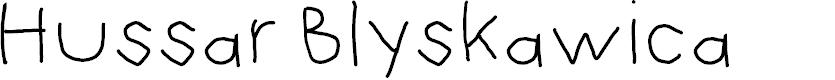 Preview image for Hussar Blyskawica Font