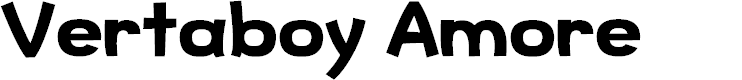 Preview image for Vertaboy Amore Font
