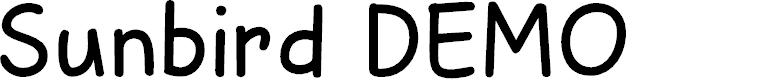 Preview image for Sunbird DEMO Regular Font