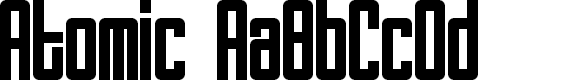 Preview image for Atomic Font