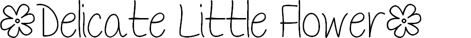 Preview image for Mf Delicate Little Flower Font