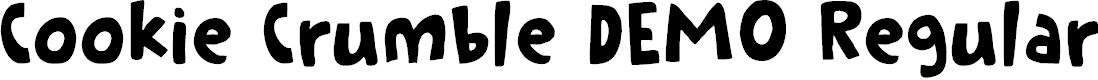 Preview image for Cookie Crumble DEMO Regular Font
