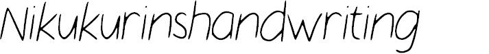 Preview image for Nikukurin_s_handwriting Font