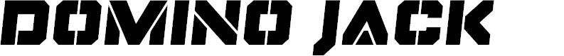 Preview image for Domino Jack Semi-Italic Semi-Italic