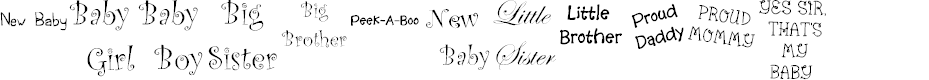 Preview image for KR Scrappin Babies Font
