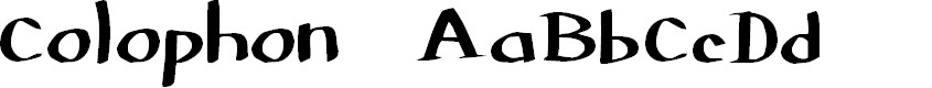 Preview image for Colophon DBZ Font