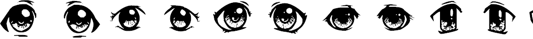 Preview image for Anime Eyes Font