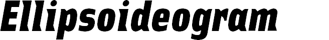 Preview image for Ellipsoideogram Font