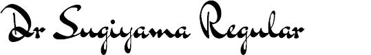 Preview image for Dr Sugiyama Regular Font