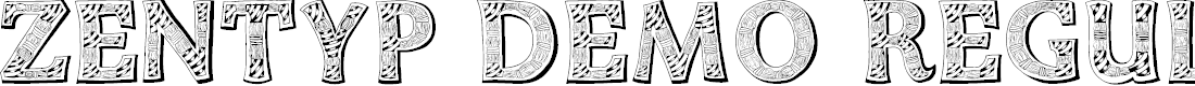 Preview image for Zentyp Demo Regular Font