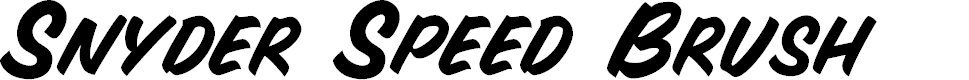 Preview image for Snyder Speed Brush Font