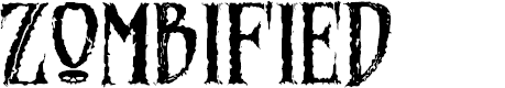 Preview image for Zombified Font