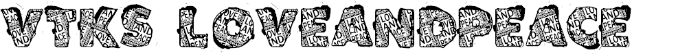 Preview image for VTKS LOVEANDPEACE Font