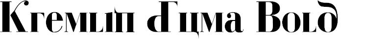 Preview image for Kremlin Duma Bold Font