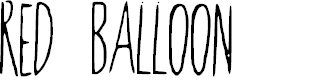 Preview image for RedBalloon2 Font