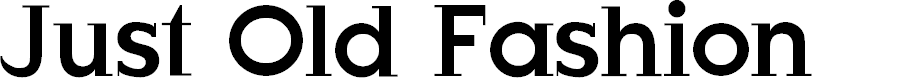 Preview image for JustOldFashion Font