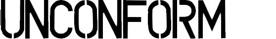 Preview image for UNCONFORM  plain Font