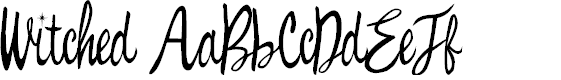 Preview image for Witched Font