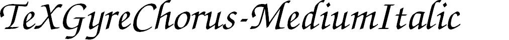 Preview image for TeXGyreChorus-MediumItalic Font