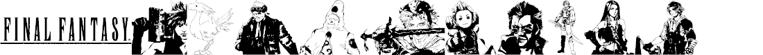 Preview image for final fantasy elements Font