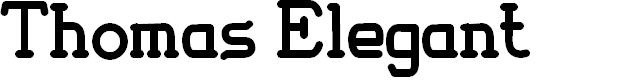 Preview image for Thomas Elegant Font