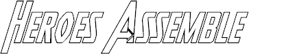 Preview image for Heroes Assemble Outline Italic