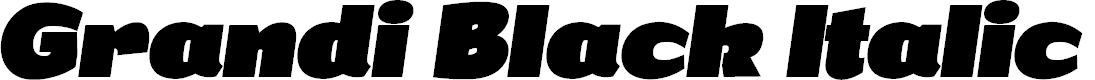 Preview image for Grandi PERSONAL USE Black Italic