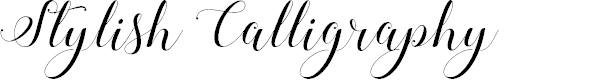 Preview image for Stylish Calligraphy Demo Font