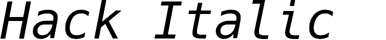 Preview image for Hack Italic