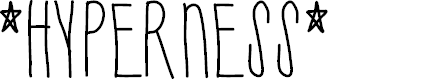 Preview image for Hyperness Font